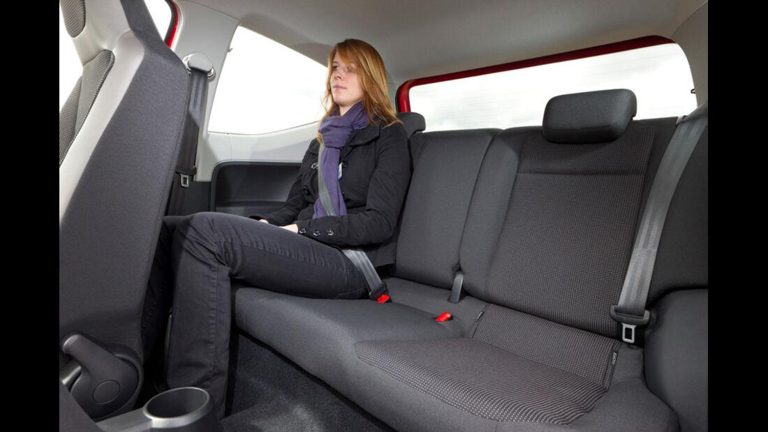 VW Up, Innenraum, Rücksitz