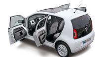 VW Up!, Türen offen, Seitenansicht