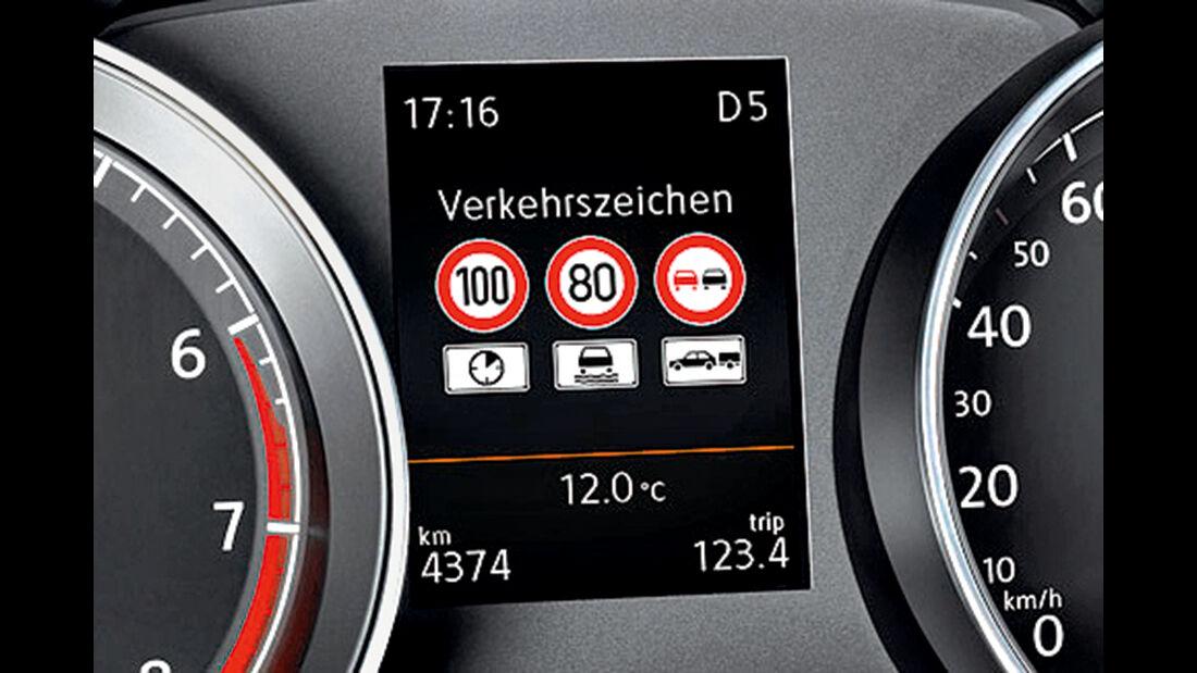 VW Verkehrszeichenerkennung