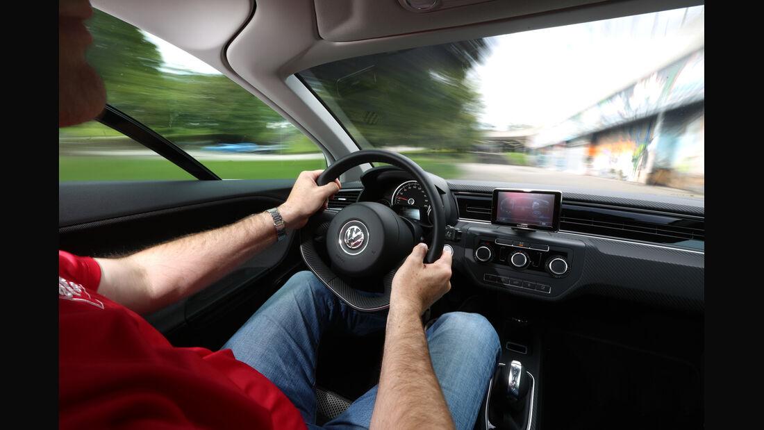 VW XL1, Cockpit, Fahrersicht