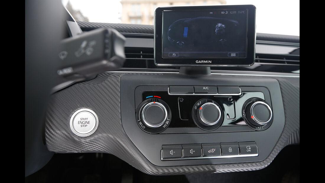VW XL1, Display, Bordcomputer, Mittelkonsole