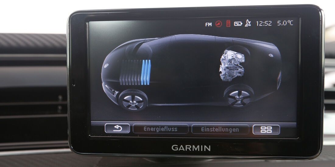 VW XL1, Display, Bordcomputer