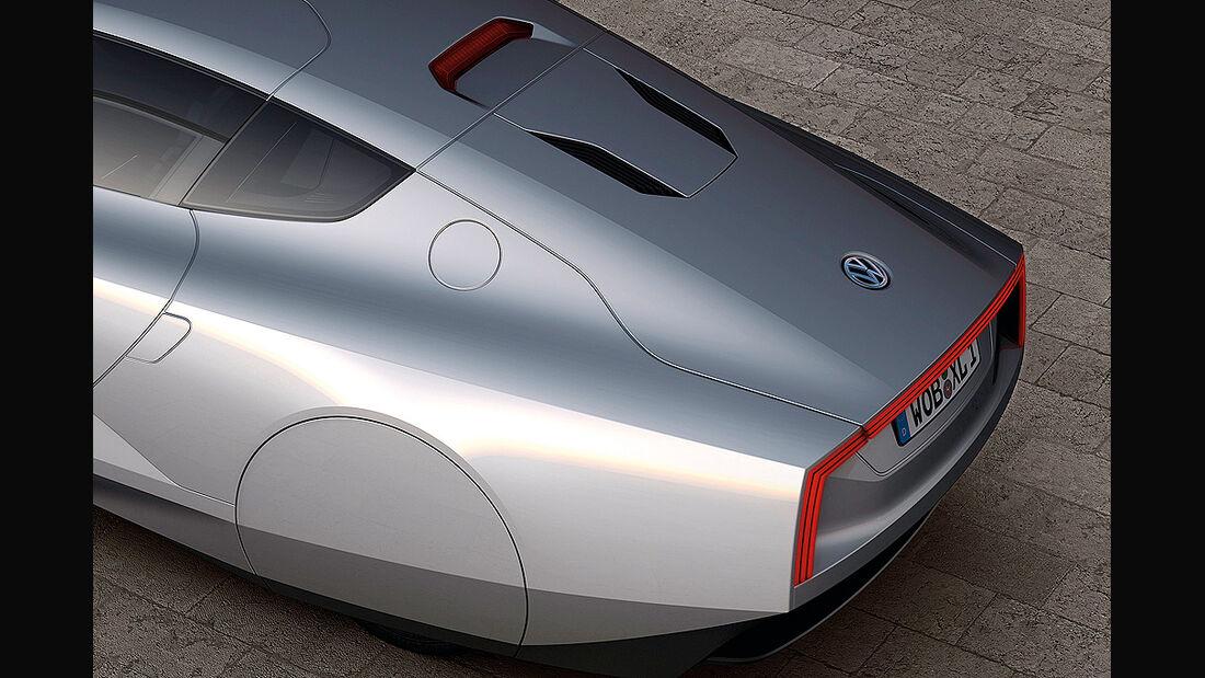 VW XL1, Einliter-Auto, Heck, Radabdeckung
