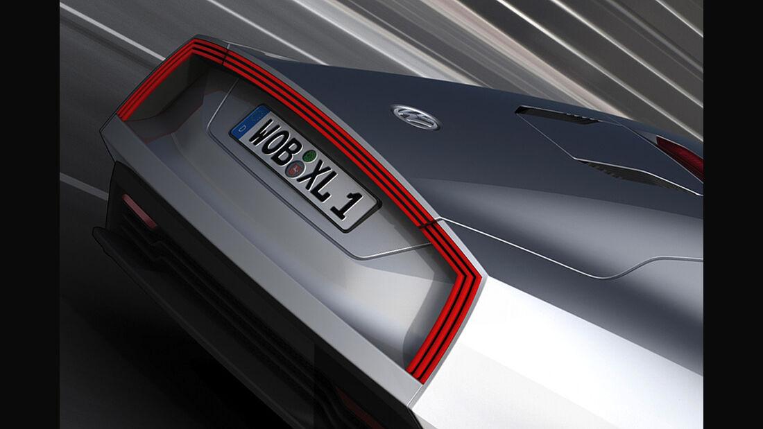 VW XL1, Einliter-Auto, Heck, Rücklicht