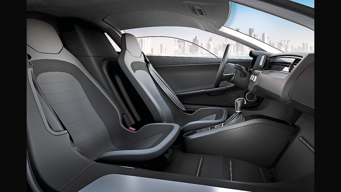 VW XL1, Einliter-Auto, Innenraum, Sitze