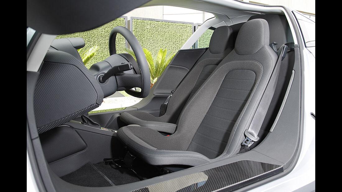 VW XL1, Einliter-Auto, Sitze