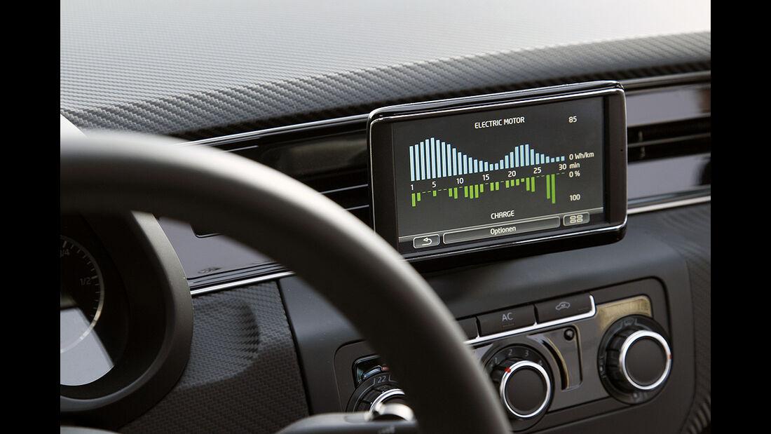 VW XL1, Einliter-Auto, Touchscreen, Bildschirm