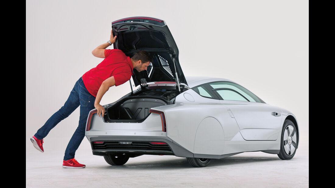 VW XL1, Heckansicht
