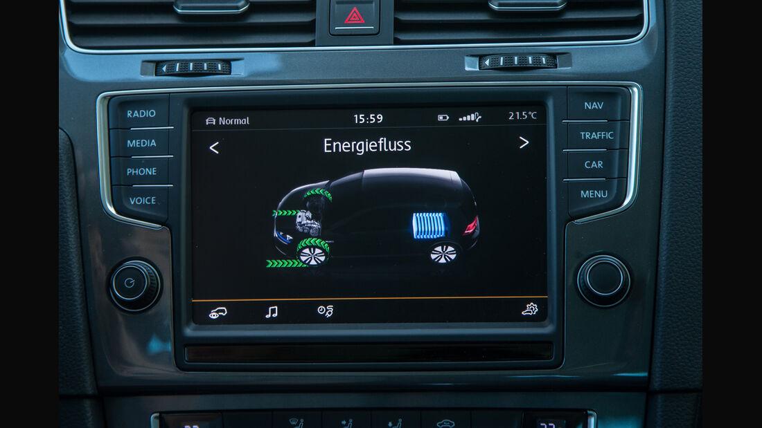 VW e-Golf, Anzeige, Display