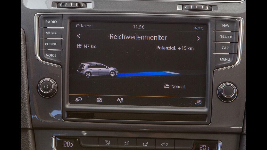 VW e-Golf, Anzeige, Monitor
