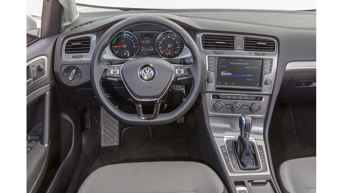 VW e-Golf, Cockpit
