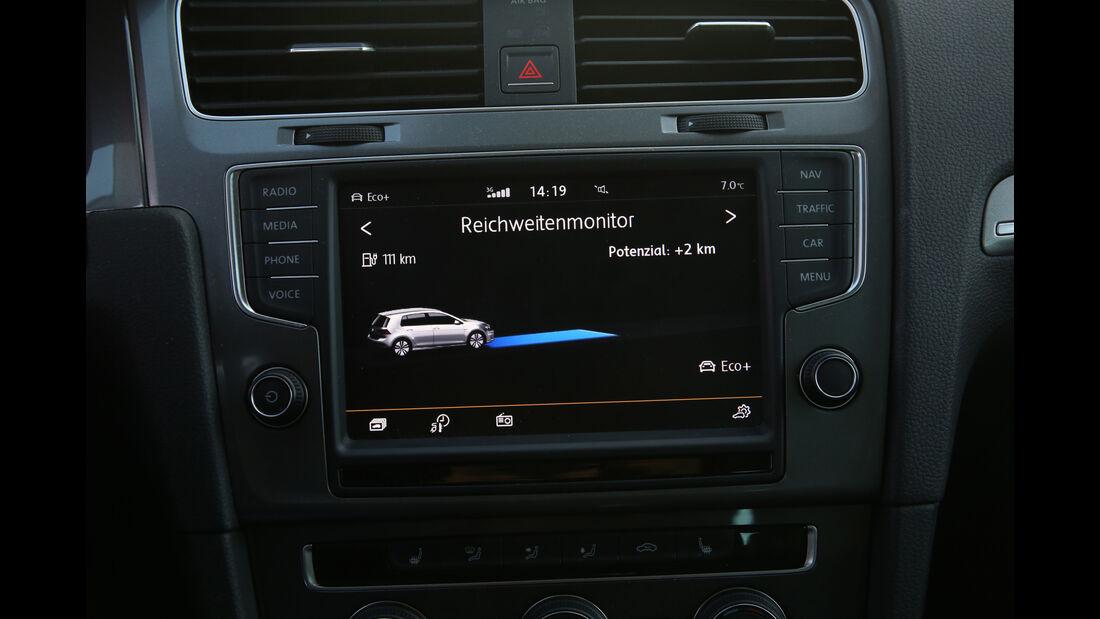 VW e-Golf, Mittelkonsole