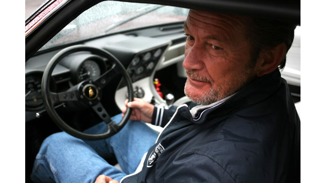 Valentino Balboni im Lamborghini