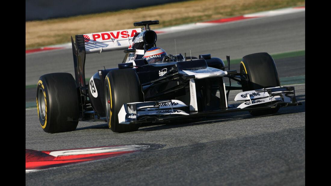 Valtteri Bottas Barcelona F1-Test 2012