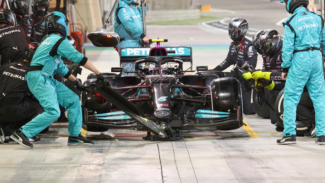 Valtteri Bottas - Boxenstopp - GP Bahrain 2021