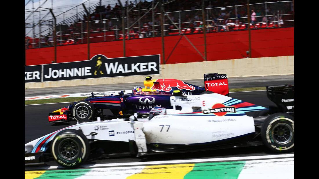 Valtteri Bottas - Daniel Ricciardo - Formel 1 - GP Brasilien - 9. November 2014