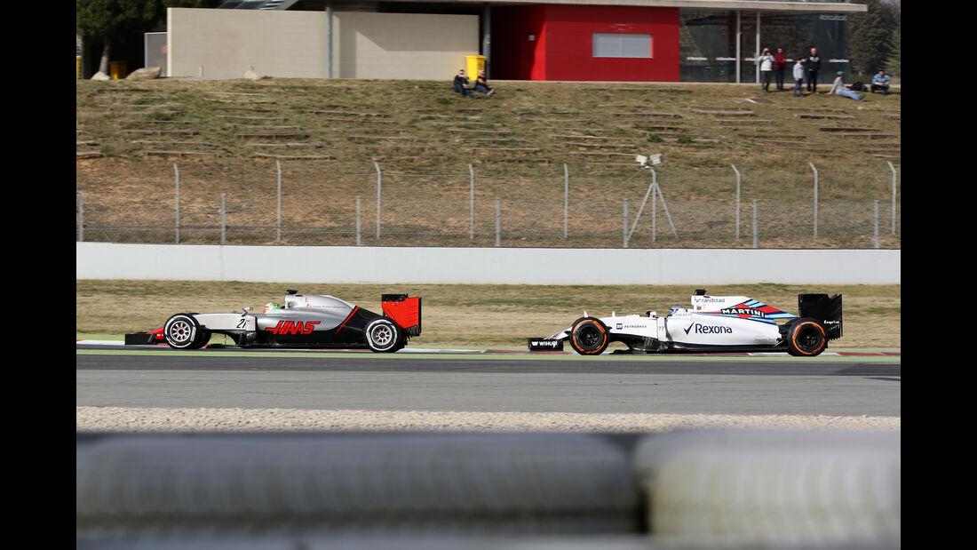 Valtteri Bottas & Esteban Gutierrez - Formel 1-Test - Barcelona - 23. Februar 2016