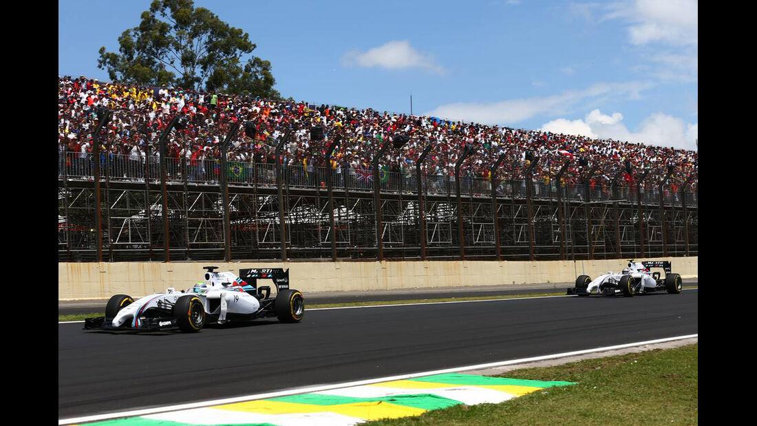 Valtteri Bottas - Felipe Massa - Formel 1 - GP Brasilien - 9. November 2014