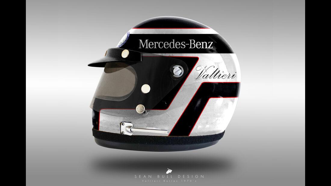 Valtteri Bottas - Formel 1 - Retro-Helme - Sean Bull - 2018