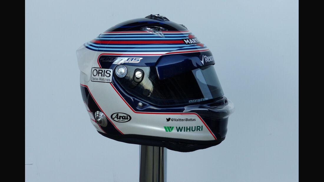 Valtteri Bottas Helm - Formel 1-Test - Barcelona - 19. Februar 2015