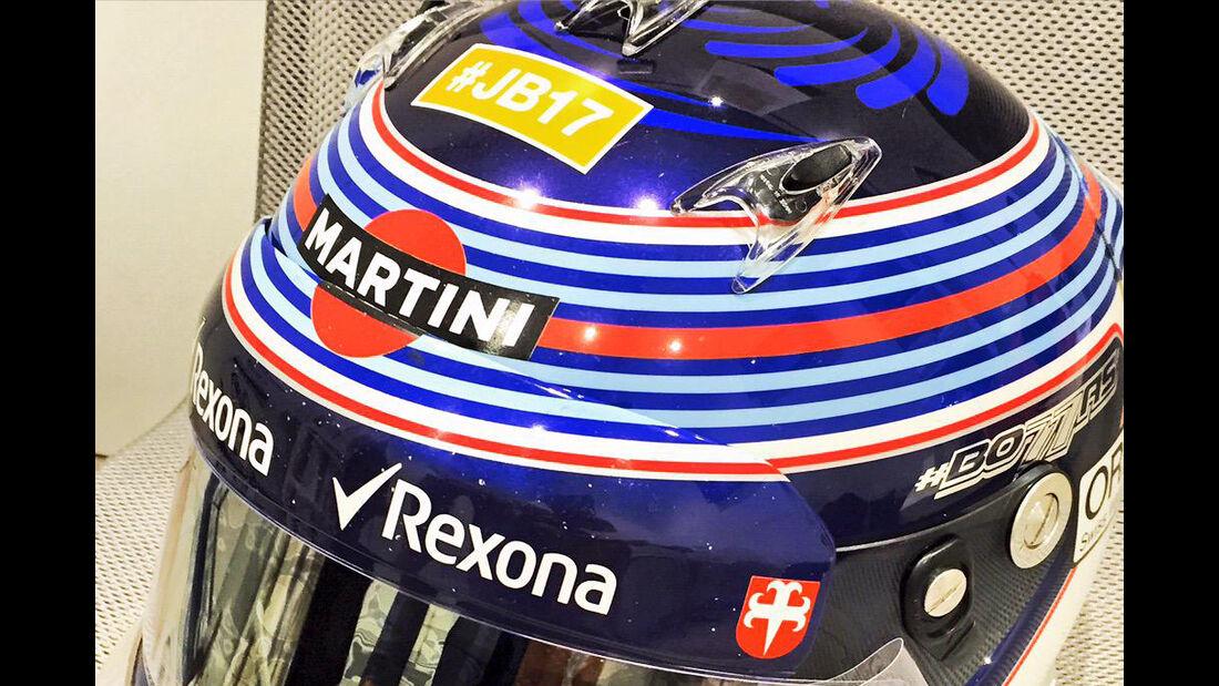Valtteri Bottas - Jules Bianchi-Aufkleber - GP Ungarn 2015