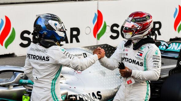 Valtteri Bottas & Lewis Hamilton - Mercedes - GP Aserbaidschan 2019