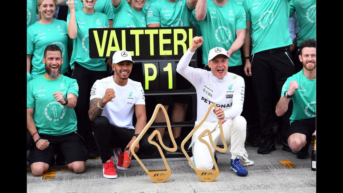 Valtteri Bottas - Lewis Hamilton - Mercedes - GP Österreich 2017 - Spielberg - Rennen