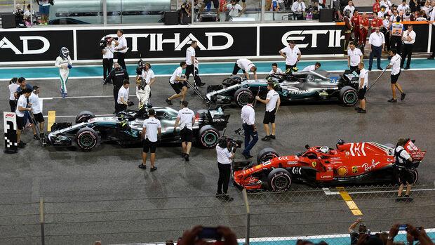 Valtteri Bottas, Lewis Hamilton & Sebastian Vettel - GP Abu Dhabi 2018