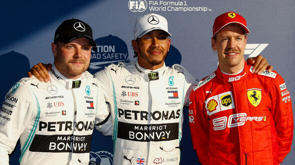 Valtteri Bottas, Lewis Hamilton & Sebastian Vettel - GP Australien 2019