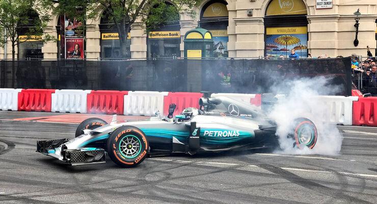 Valtteri Bottas - Mercedes - Budapest Showrun - 2017