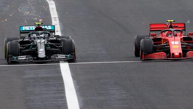 Valtteri Bottas - Mercedes - Charles Leclerc - Ferrari - GP Ungarn 2020