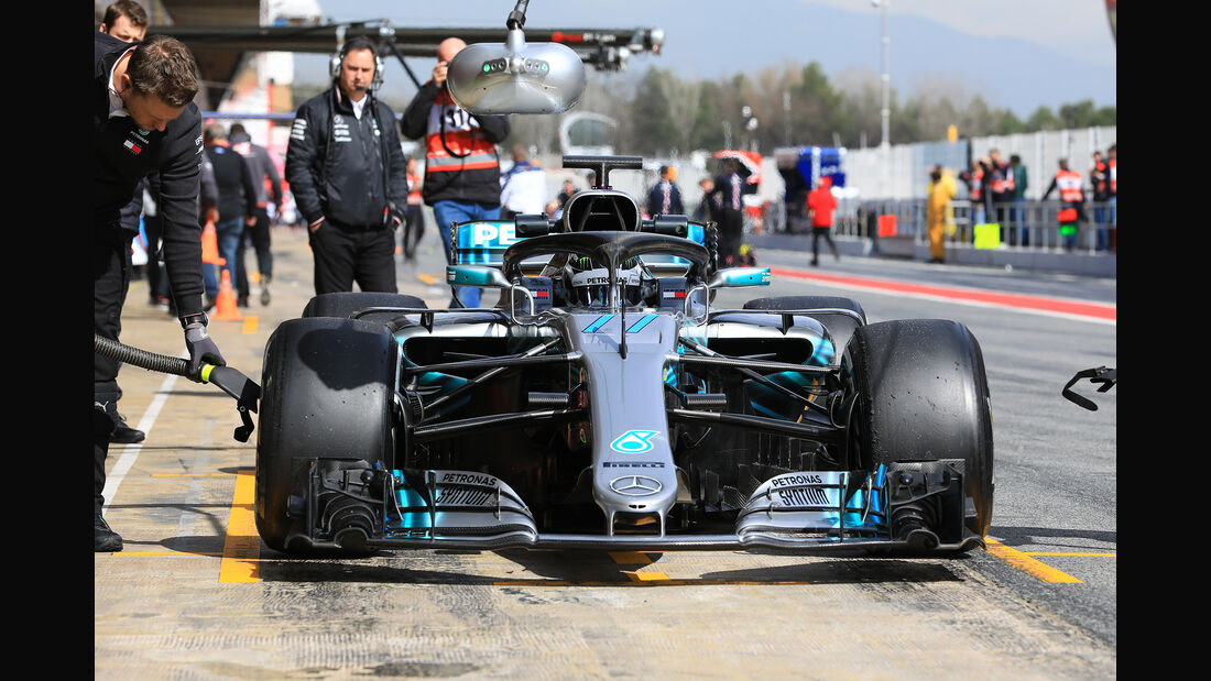 Valtteri Bottas - Mercedes - F1-Test - Barcelona - Tag 7 - 8. März 2018