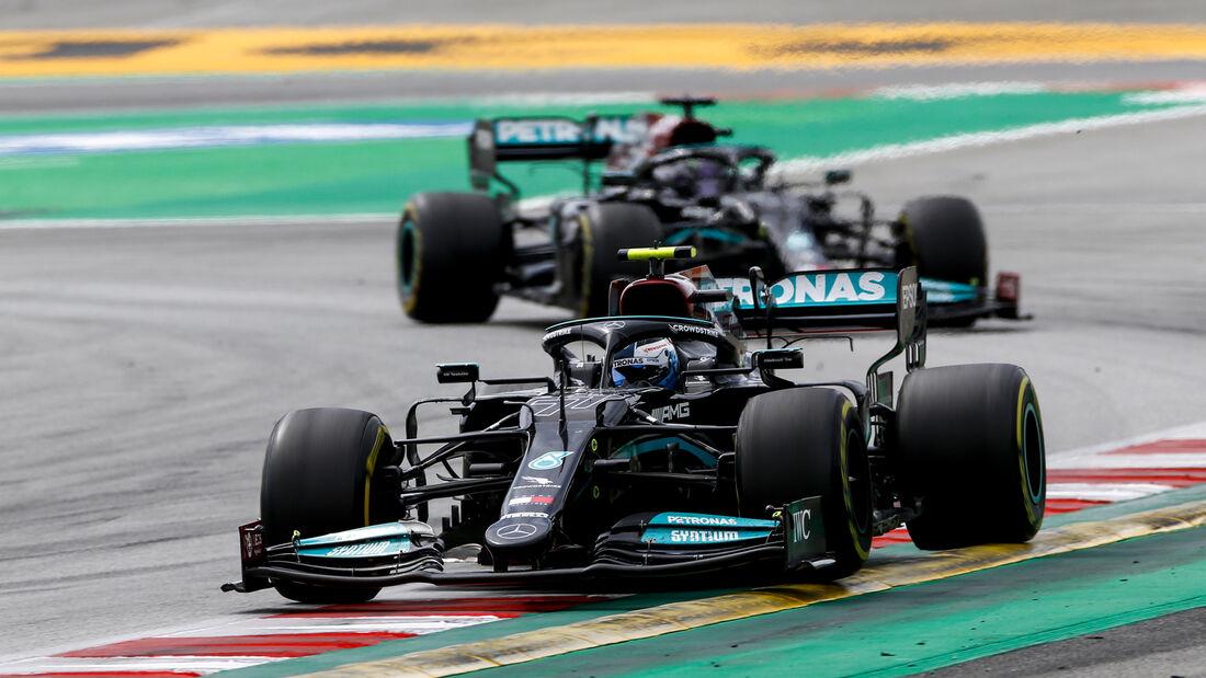 Valtteri Bottas - Mercedes - Formel 1 - GP Spanien 2021 - Barcelona - Rennen