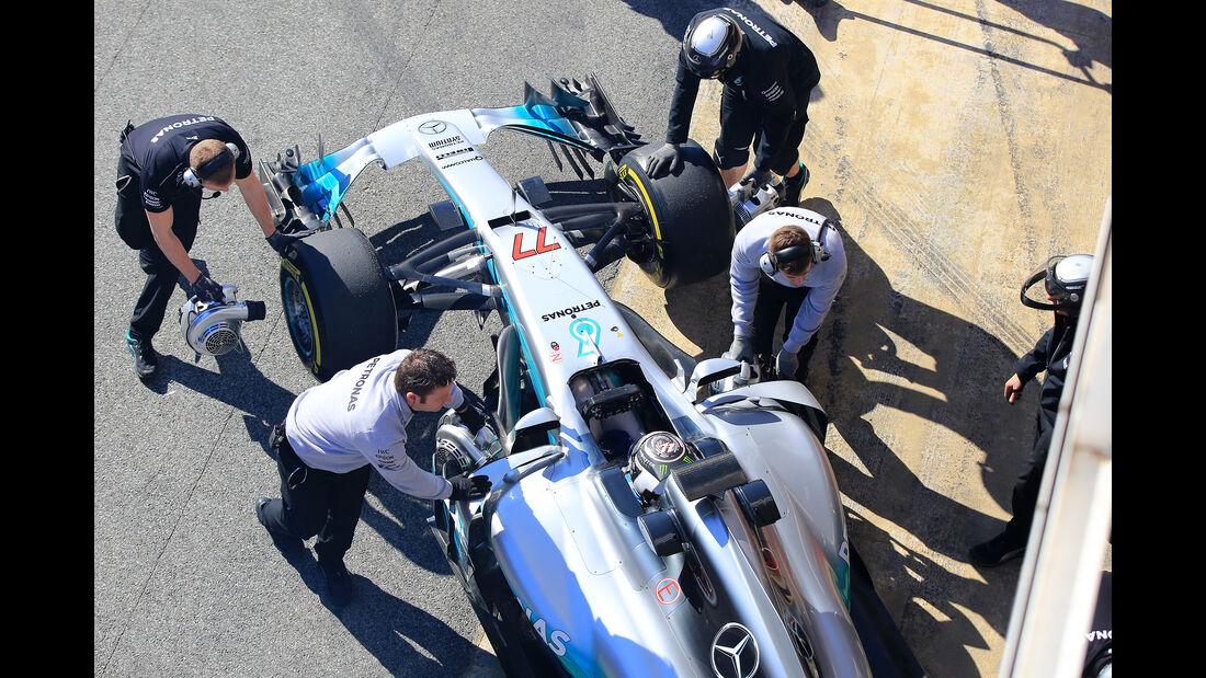 Valtteri Bottas - Mercedes - Formel 1 - Test - Barcelona - 1. März 2017