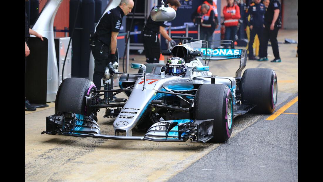 Valtteri Bottas - Mercedes - Formel 1 - Test - Barcelona - 8. März 2017