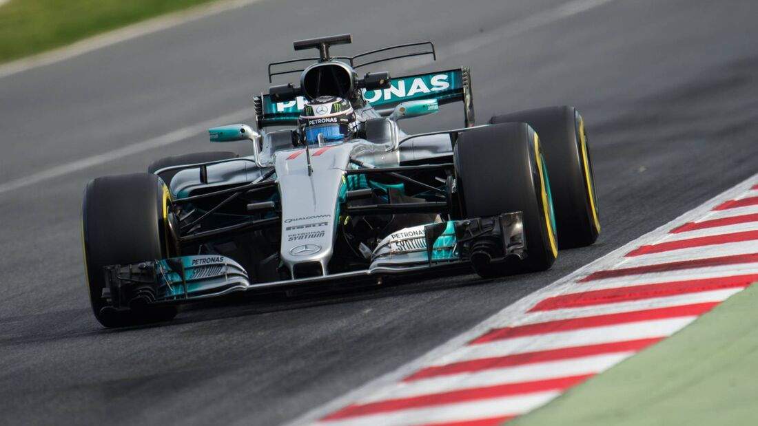 Valtteri Bottas - Mercedes - Formel 1 - Testfahrten - Barcelona - 1. März 2017
