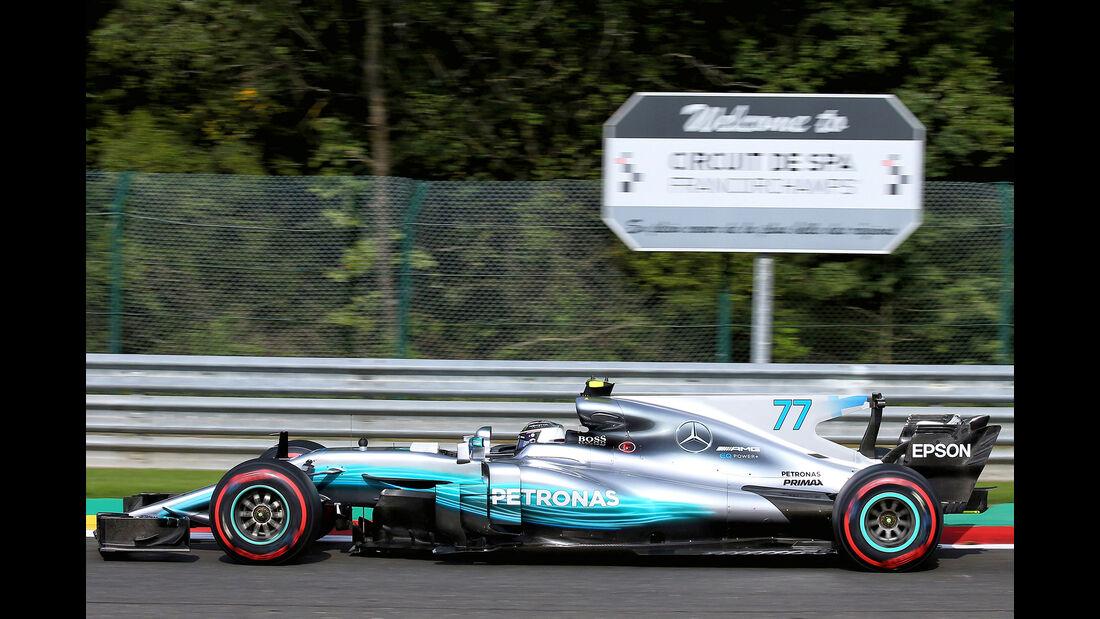 Valtteri Bottas - Mercedes - GP Belgien - Spa-Francorchamps - Formel 1 - 25. August 2017