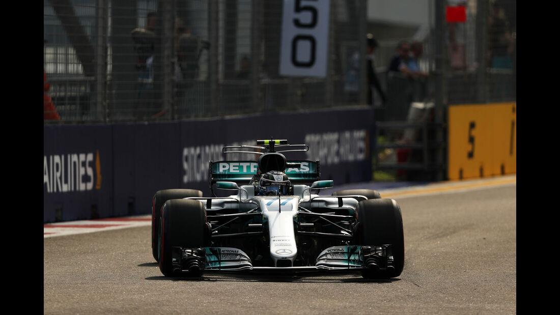 Valtteri Bottas - Mercedes - GP Singapur - Formel 1 - Freitag - 15.9.2017