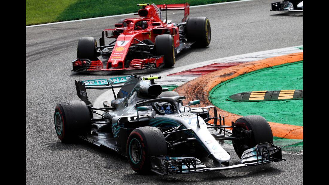 Valtteri Bottas - Mercedes - Kimi Räikkönen - Ferrari - Formel 1 - GP Italien - 02. September 2018