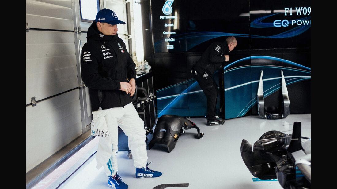 Valtteri Bottas - Mercedes Launch 2018