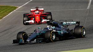 Valtteri Bottas - Mercedes - Sebastian Vettel - Ferrari