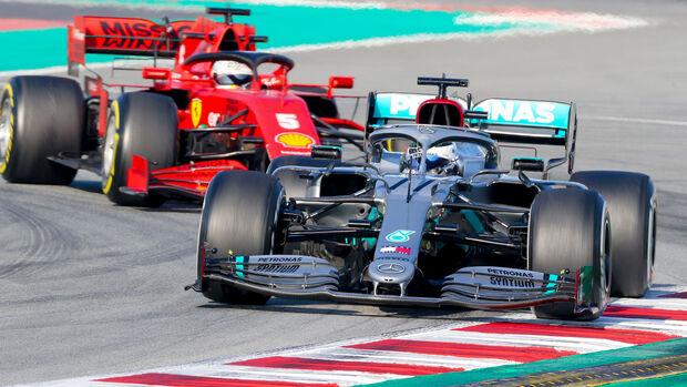 Valtteri Bottas - Mercedes / Sebastian Vettel - Ferrari - Barcelona F1-Test 2020