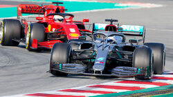 Valtteri Bottas - Mercedes / Sebastian Vettel - Ferrari - Barcelona F1-Test 2020