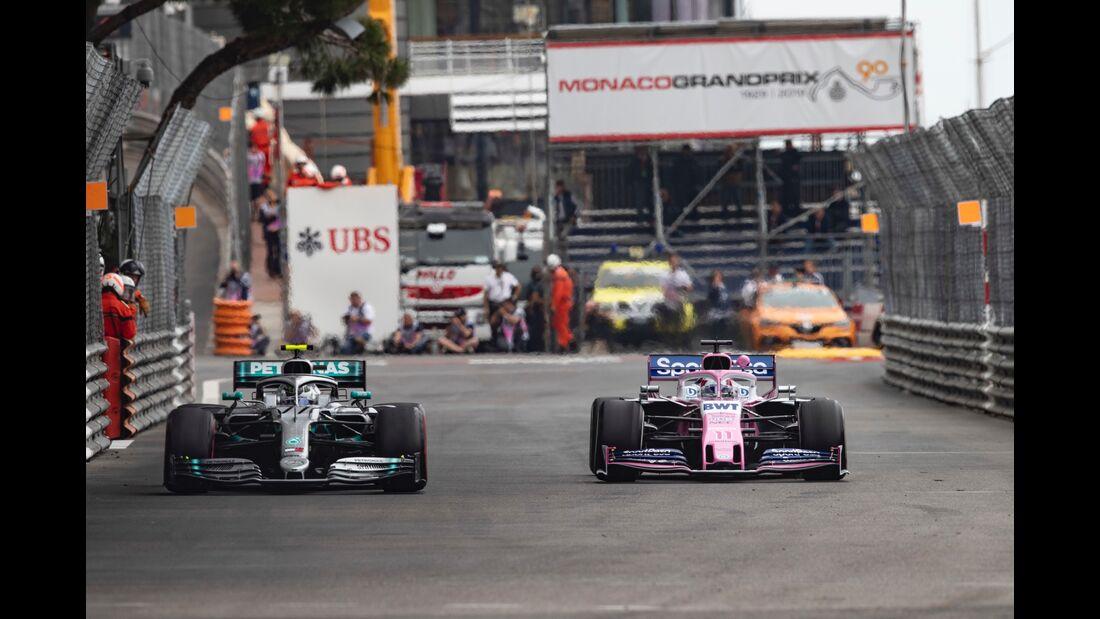 Valtteri Bottas - Mercedes - Sergio Perez - Racing Point - Formel 1 - GP Monaco - 23. Mai 2019