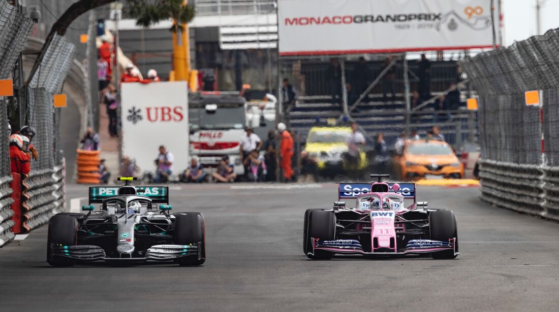 Valtteri Bottas - Mercedes - Sergio Perez - Racing Point - Formel 1 - GP Monaco - 23. Mai 2019