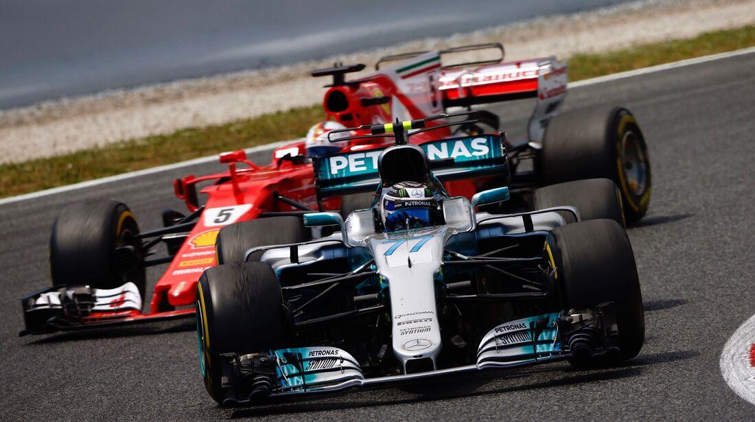 Valtteri Bottas - Sebastian Vettel - Formel 1 - GP Spanien - 14. Mai 2017