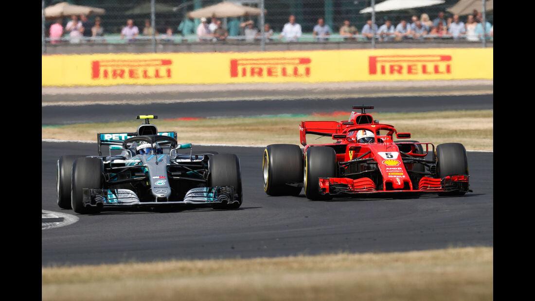 Valtteri Bottas - Sebastian Vettel - GP England 2018 - Silverstone - Rennen