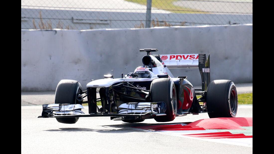 Valtteri Bottas Williams F1 Test Barcelona 2013