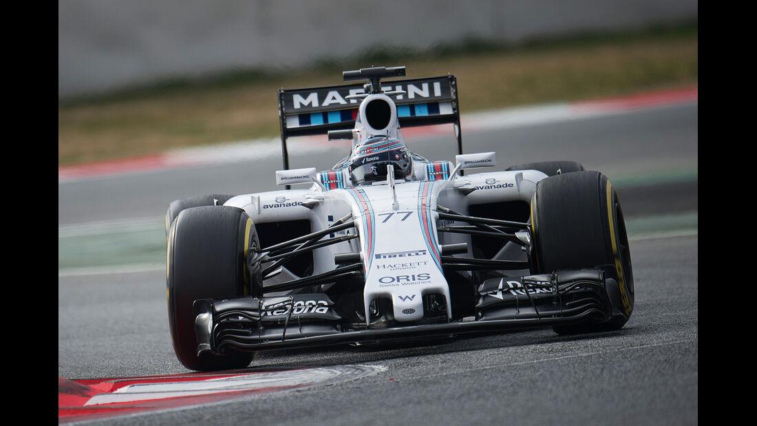 Valtteri Bottas - Williams - Formel 1-Test - Barcelona - 21. Februar 2015