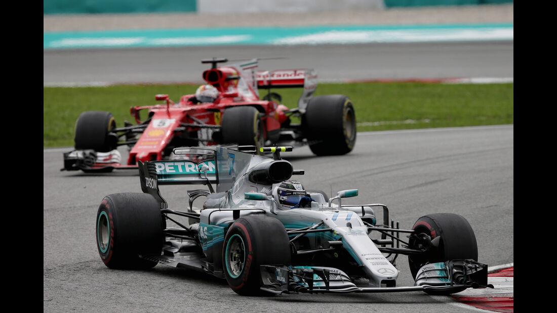 Valtteri Bottas vs. Sebastian Vettel - GP Malaysia 2017